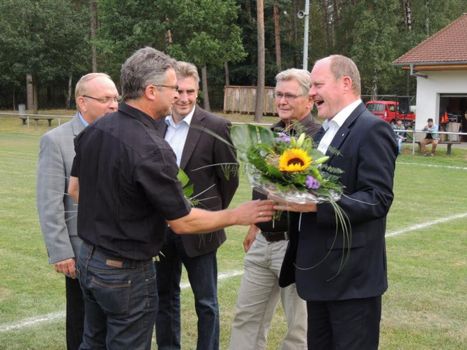 Dank an den langjährigen Förderer, Verkehrsminister Thomas Webel