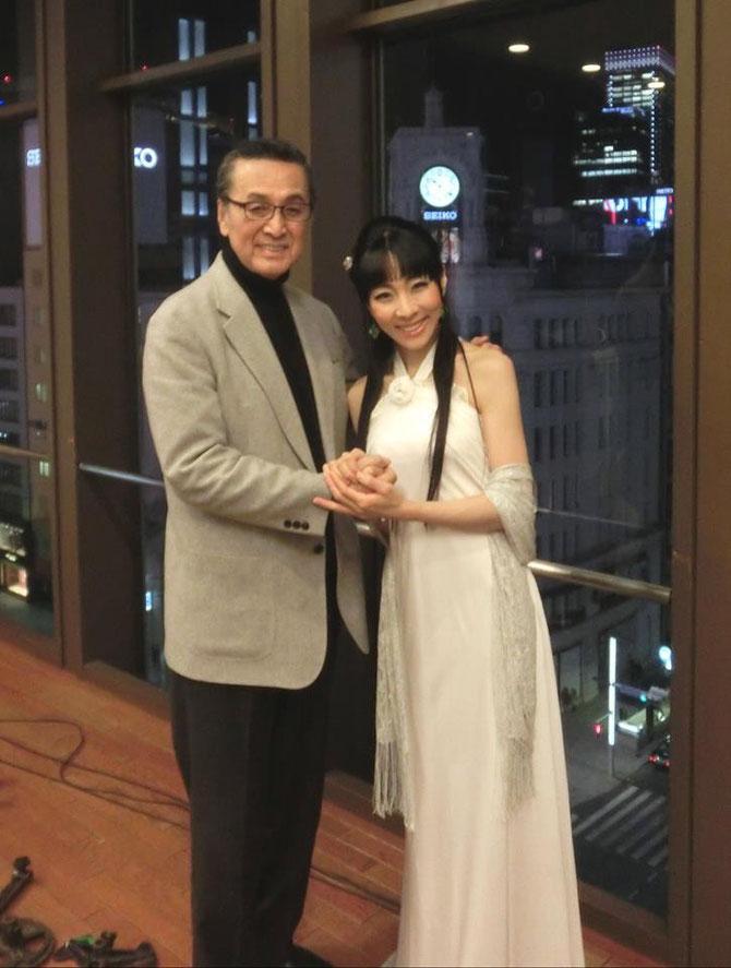 2014.1.27 宝田明先生と銀座スターホールにて