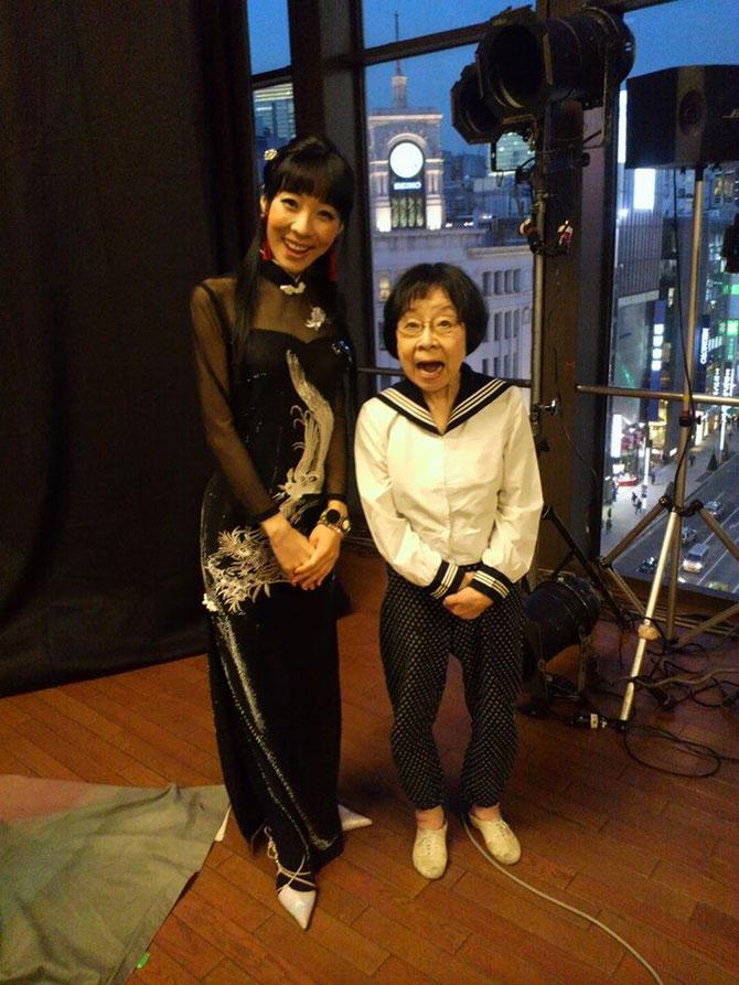 2014.1.27 堀絢子さんと銀座スターホールにて