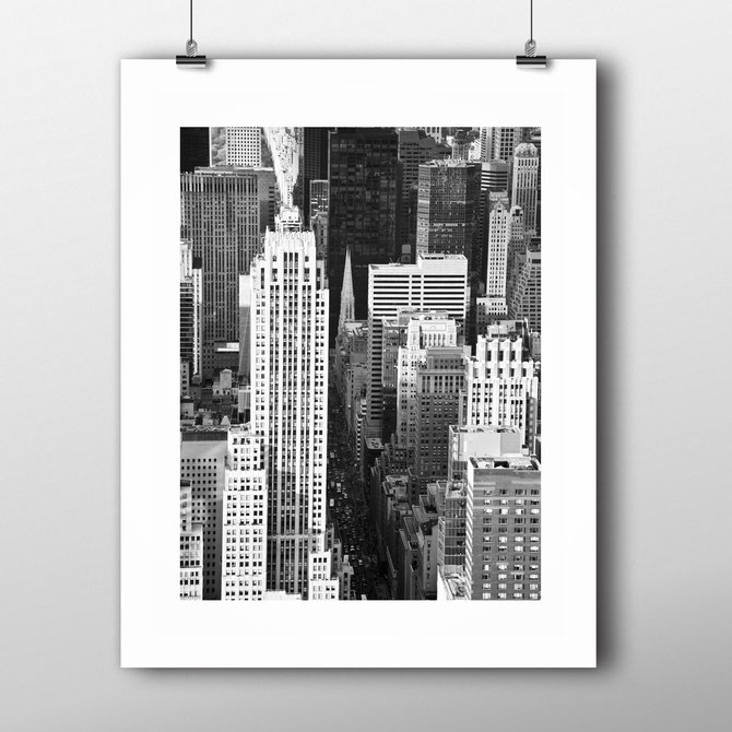 Photographic Art Print 'Big Streets' New York by PASiNGA