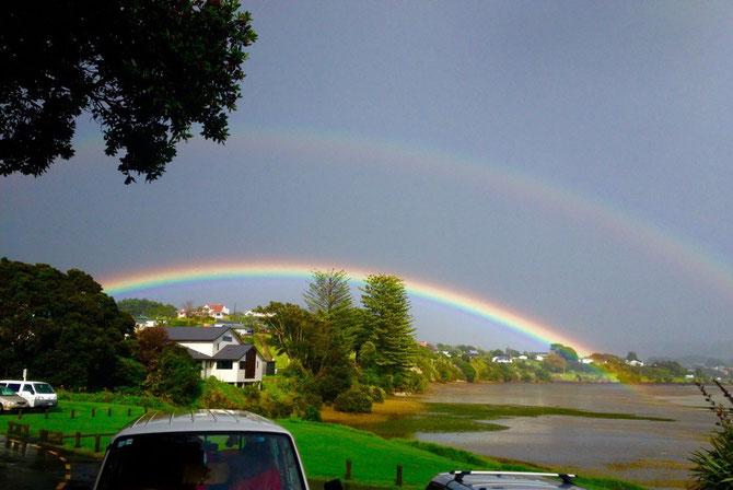 Rainbow over Raglan