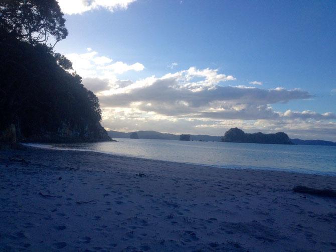 Hahei Beach im Abendlicht