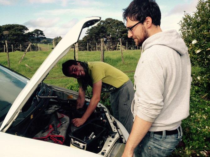 Auto muss gerettet werden - Daniel gibt sein Bestes