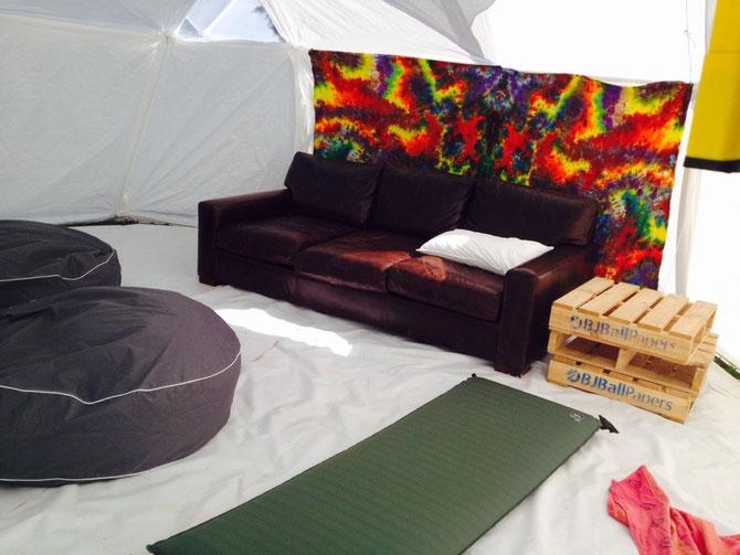 Unsere Wwoofer Lounge im Prozess