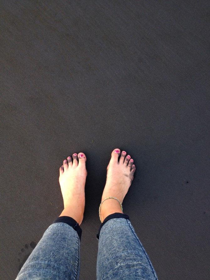 Black sand!