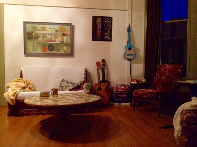 Lounge im Hostel