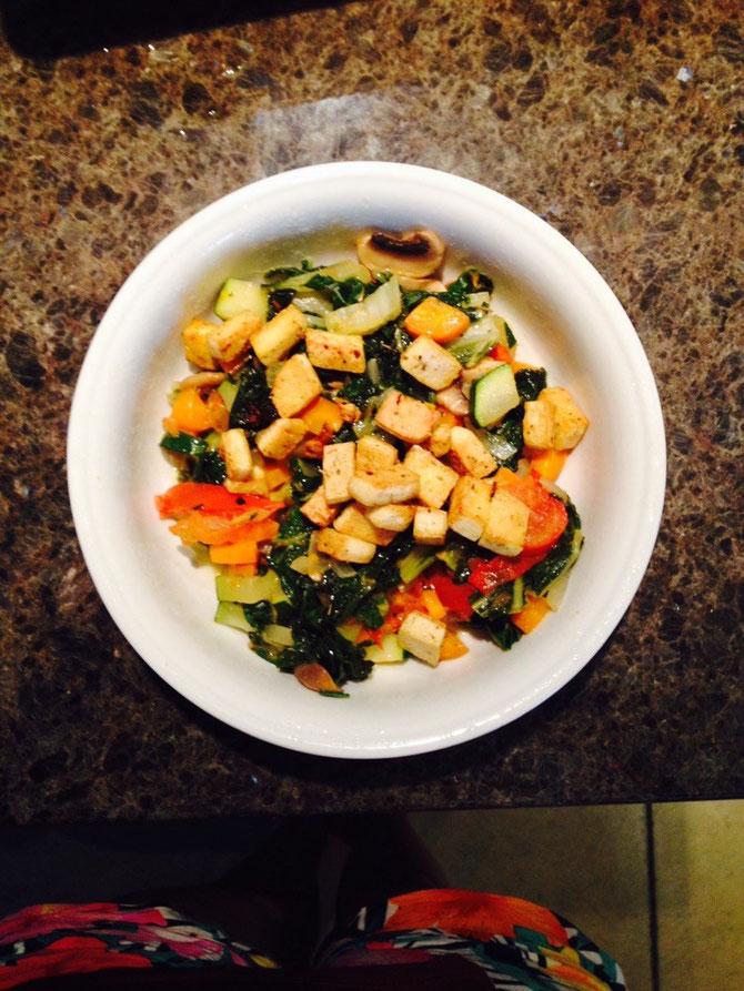 Gemüse & Tofu!