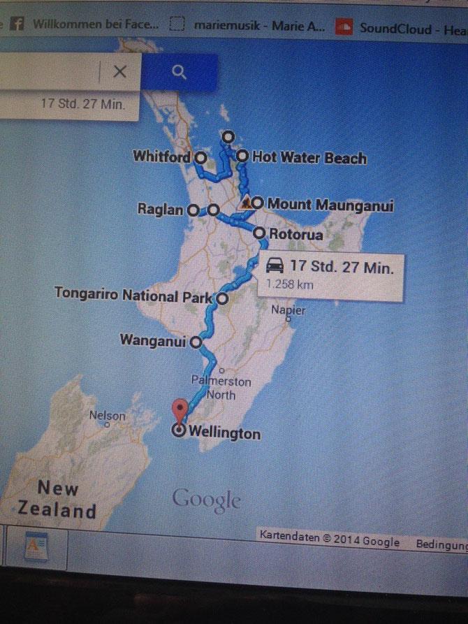 Meine geplante Route