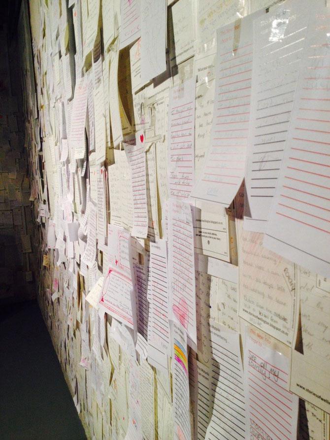 Die Wand voll mit Kommentaren über Wellington! (Gallery of City & Sea)