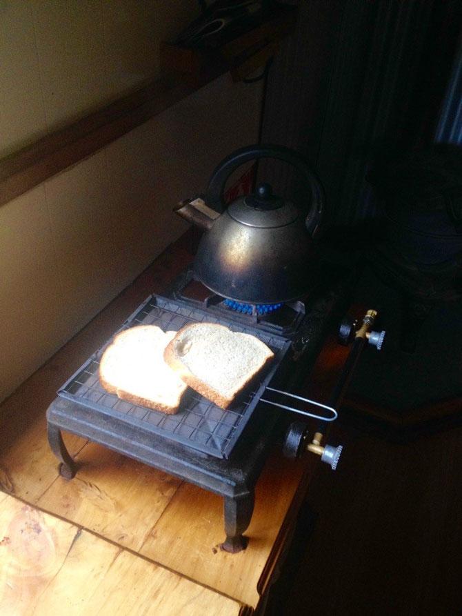Frühstück in Manapouri vorbereiten