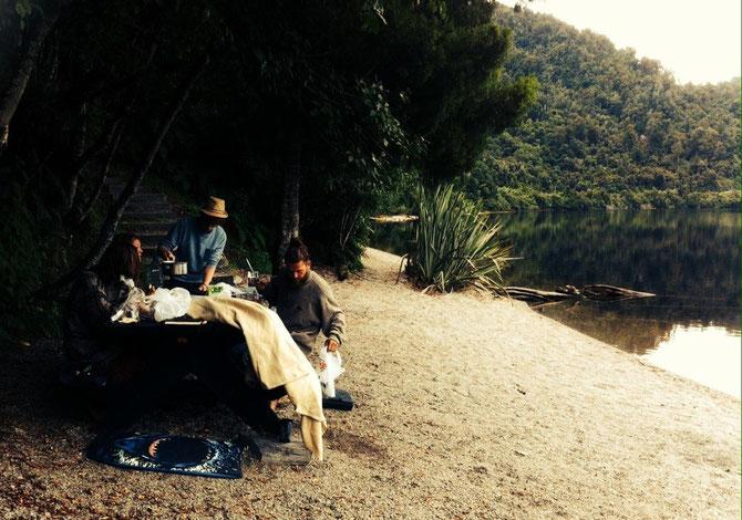 Gedanken an das Picknik am Campingplatz!