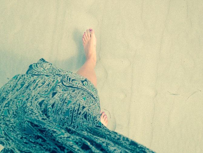 Weißer Sand ist auch dabei