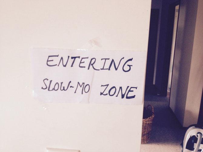 Man musste immer langsam durch die Zone gehen!