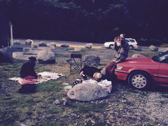 Camping mit Lasely, Adrian & Charlie