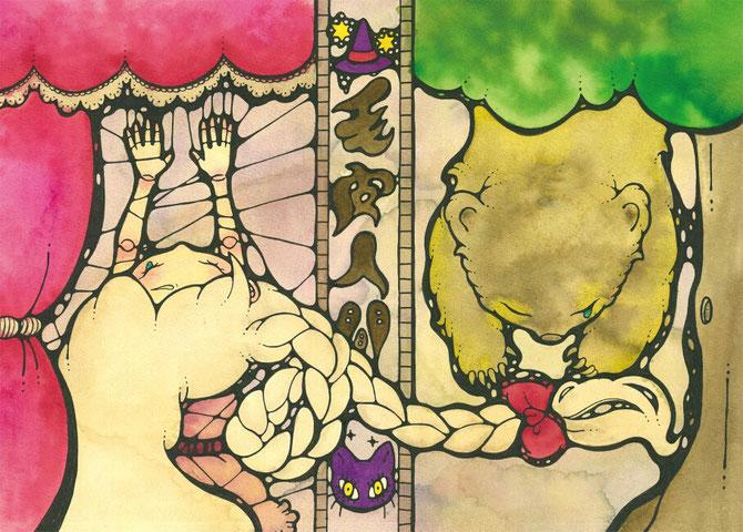 第二回本公演「毛皮人間~吊られ者たちの童話~」(2016)