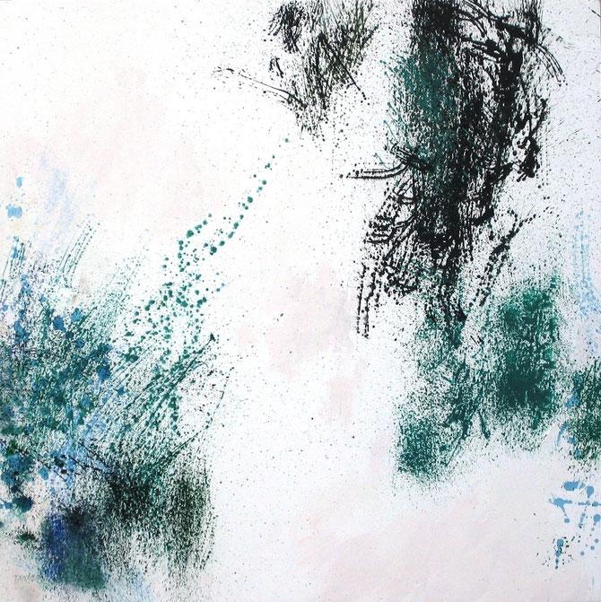 Mouvance II. Acyl sur toile. 130 x 130 cm