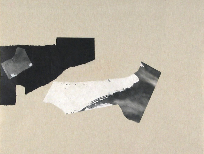 Asobu. Washi sur toile. 127 x 100 cm
