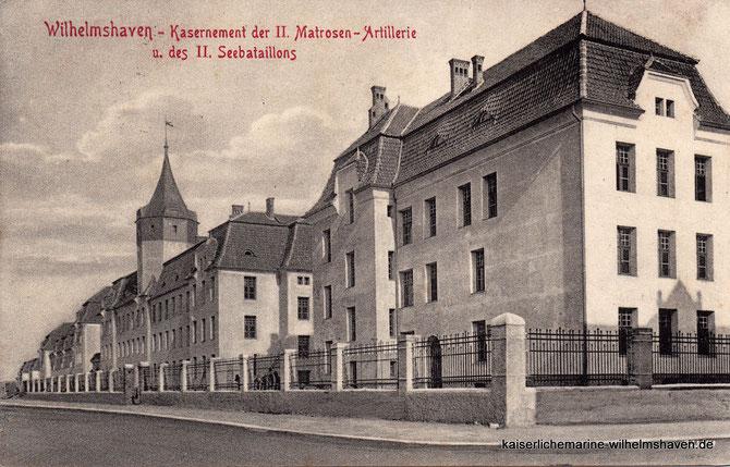 Kaserne Gökerstraße Seebataillonskaserne Seebataillon Matrosenartillerie-Kaserne