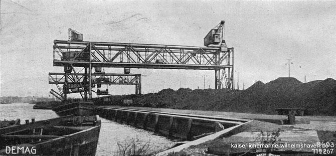 Kohlenhafen Bekohlungsanlage Wilhelmshaven Ems-Jade-Kanal