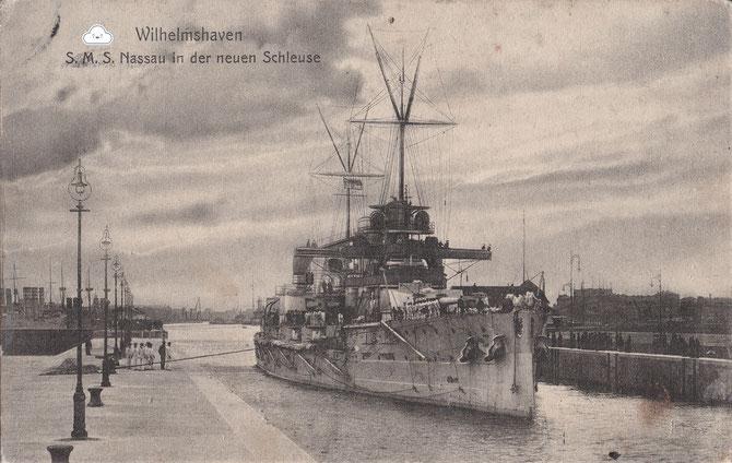 Linienschiff Nassau 3. Einfahrt Wilhelmshaven