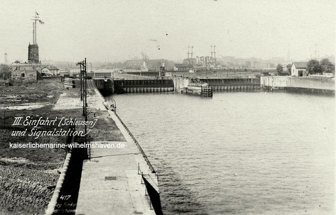 3. Dritte Einfahrt Hafeneinfahrt Wilhelmshaven