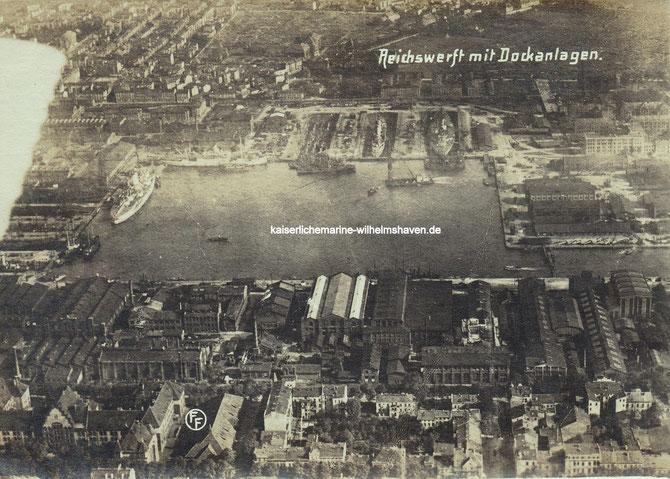 Kaiserliche Werft Kriegsmarinewerft Reichswerft Marinearsenal Bauhafen Trockendocks Wilhelmshaven