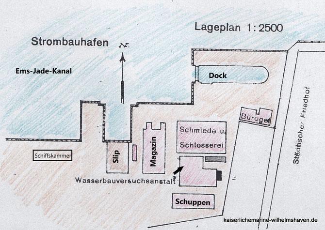 Strombauhafen Handelshafen Ems-Jade-Kanal Wilhelmshaven
