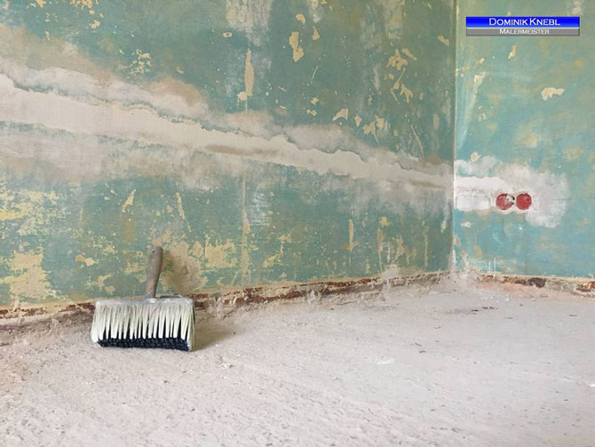 Altbausanierung, Komplettinstandsetzung von Decken- und Wandflächen
