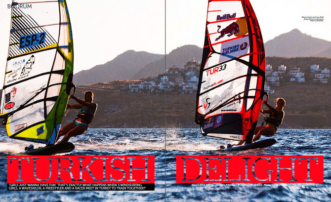 maria andres mariandres sailing on gunsails with lena erdil in turkey bodrum slalom windsurfing mystic satorisan