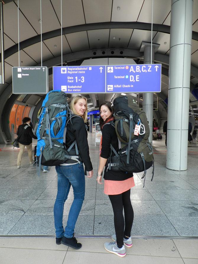 Am Frankfurter Flughafen - bereit, die Welt zu erobern