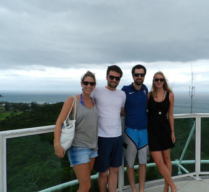 Die Itapema-Crew: Kristina, Felipe, Henrique und Alena