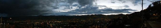 Langsam wird's Nacht in Cusco...