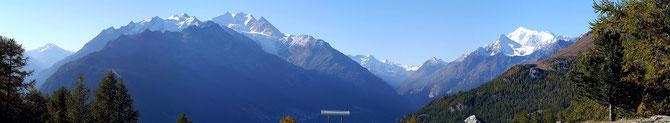 Mischabelgruppe,Klein Matterhorn,Weisshorn,Brunegghorn,Bishorn