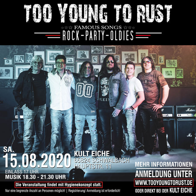 Too Young To Rust - LIVE - 15.08.20