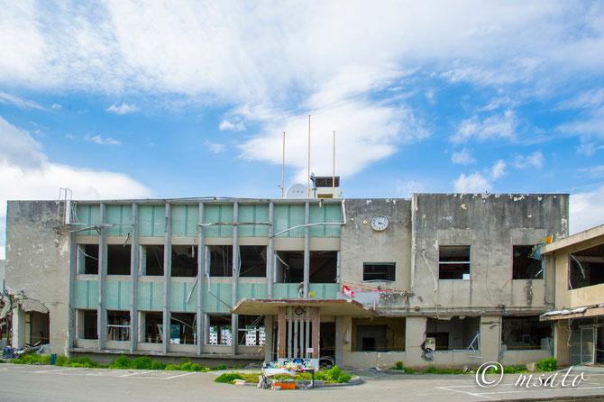 Tsunami de Tohoku - Antigo prédio da prefeitura de Oouchi, Iwate
