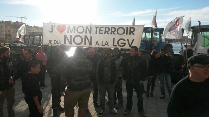 manifestation Jeunes Agriculteurs et FNSEA à marseille le 5 novembre