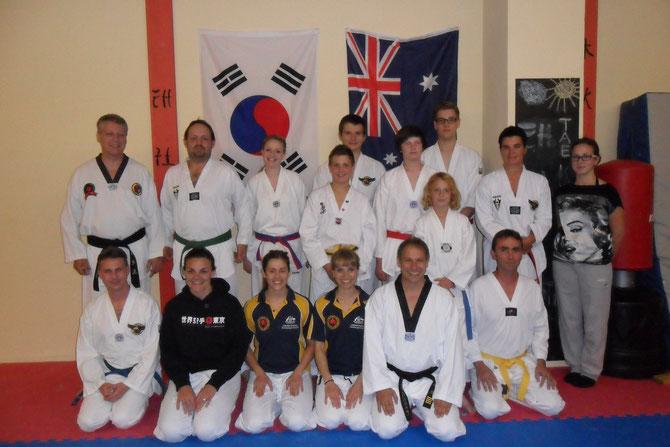 Mitglieder des Australischen Karate Nationalkaders bei uns im Dojo