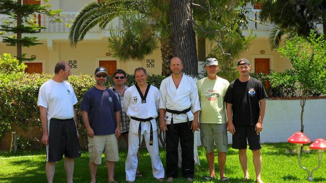 Prüfung zum 4 Dan Taekwodo in Amarithos Griechenland.
