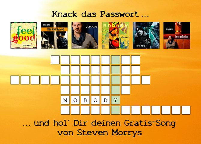Rätsel lösen, Passwort eingeben und Gratis-Song laden!