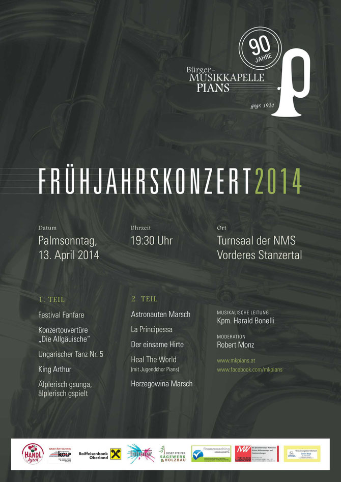 Plakat Frühjahrskonzert 2014