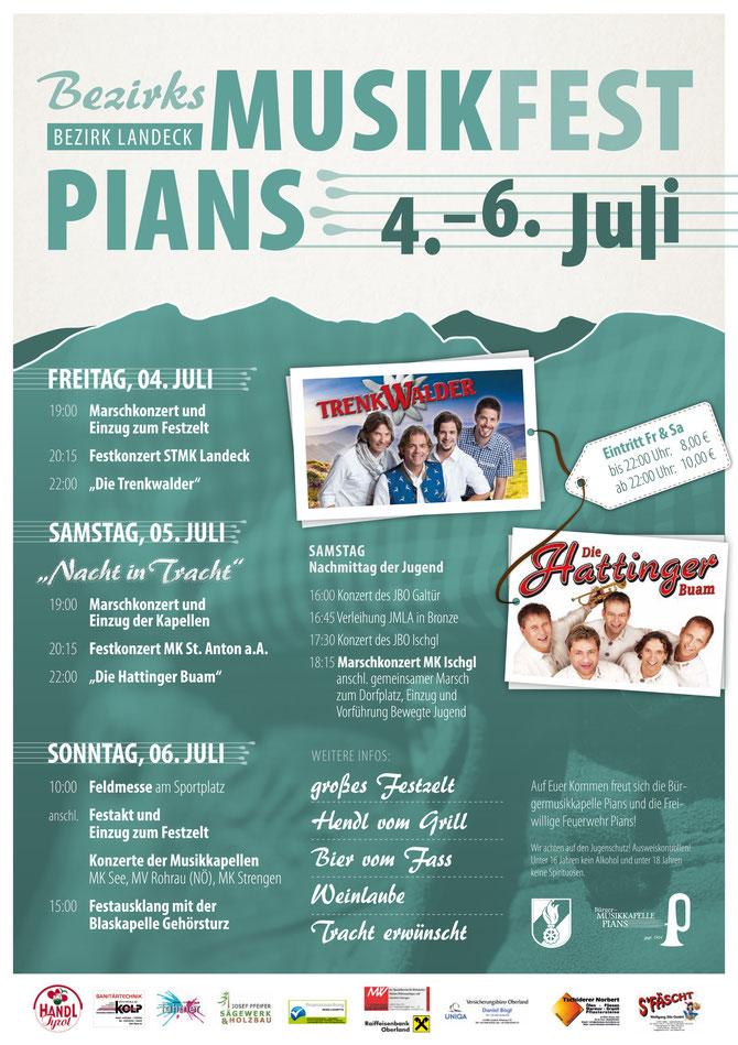 Plakat zum BMF 2014 in Pians