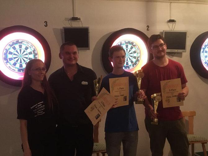 Beste Dame Nicole Thieme / 2. Platz Michael Hielscher / 1. Platz Niklas Nebel / 3. Platz Kevin Stößer