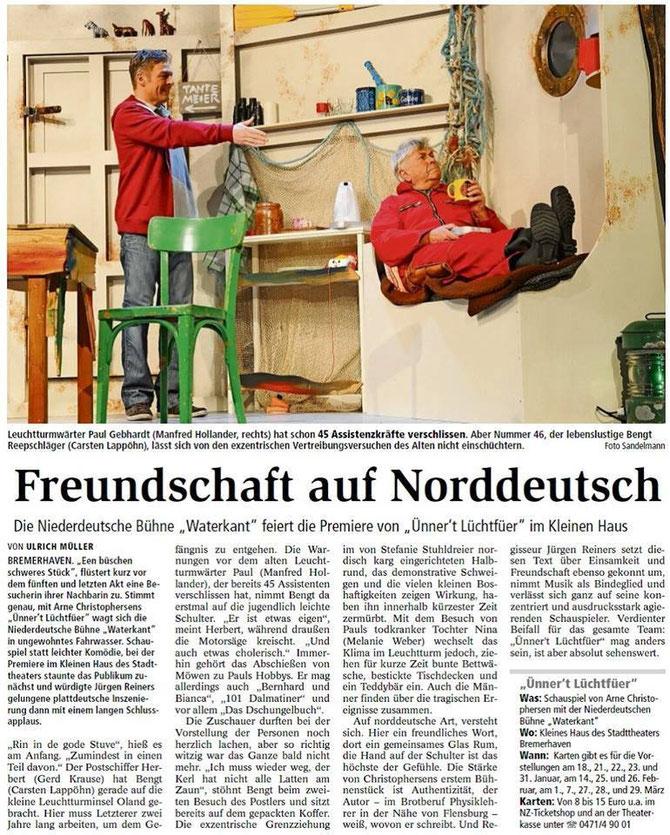 Artikel aus der NORDSEE-Zeitung vom 19.1.2015