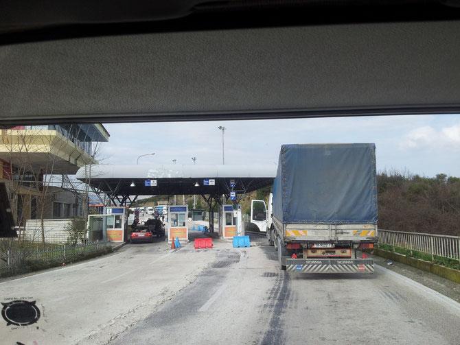 Der Grenzübergang Kakavia