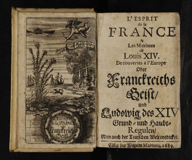 Titelkupfer von L'Esprit de la France / Franckreichs Geist (1689)