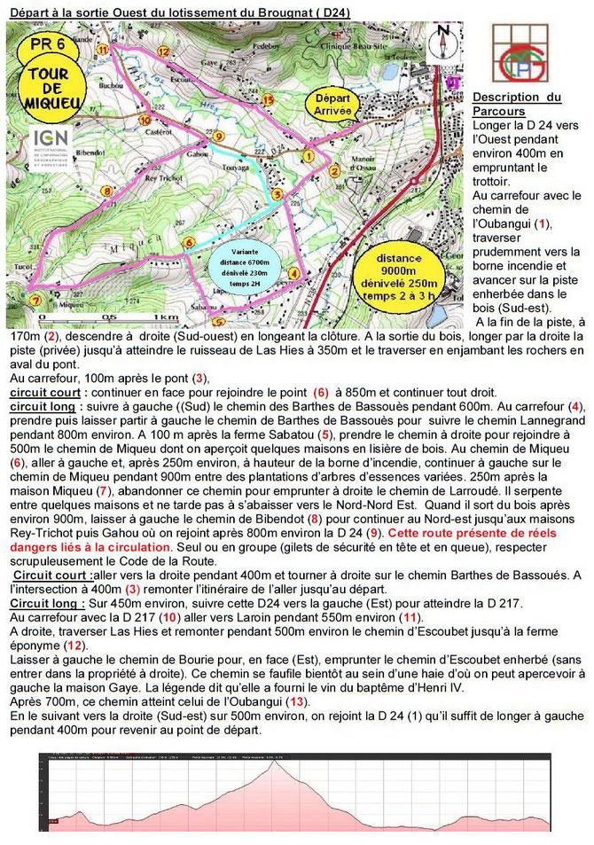 6700m 9000m Tour de Miqueu