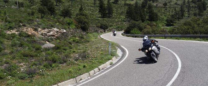 Kurvenparadies Sardinien, wenig Verkehr, toller Gripp