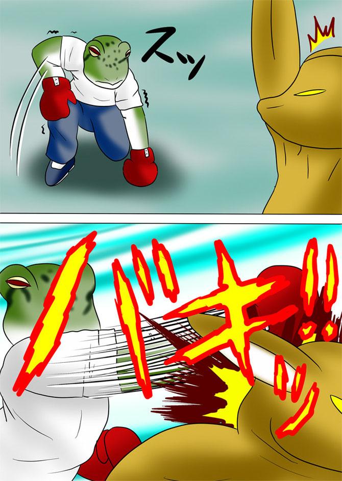 カンガルーを殴る蛙男