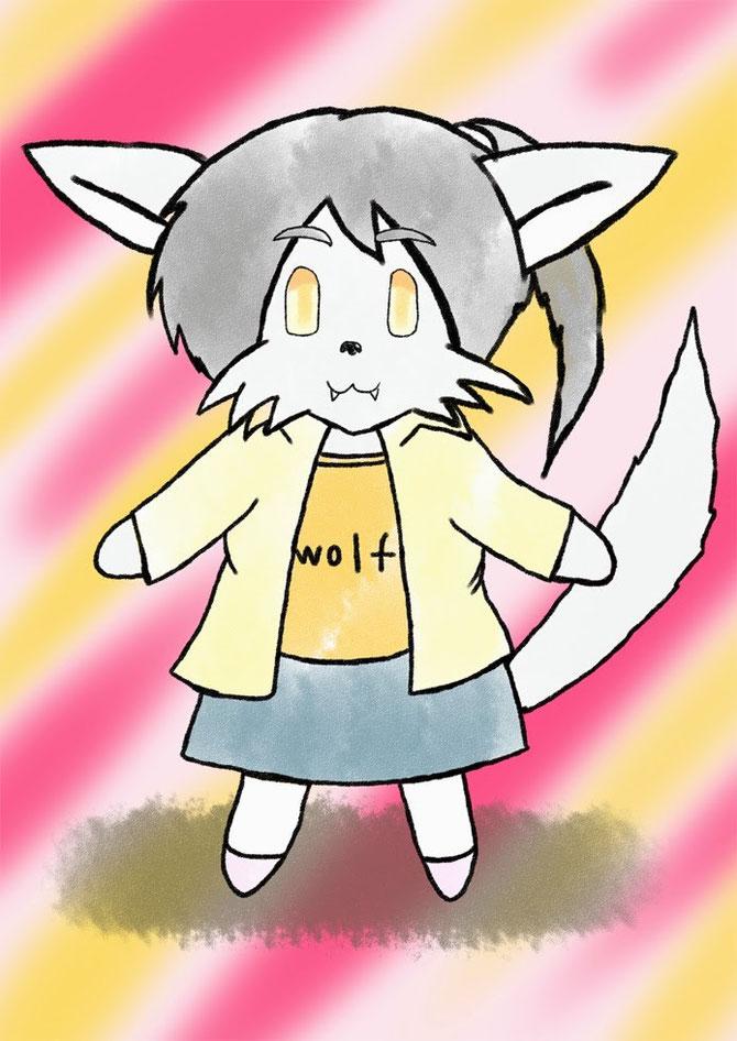デフォルメ 狼少女