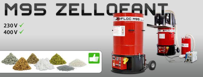 Zellofant M95 der Klassiker unter den Einblasmschinen für viele Einblas-Dämmstoffe geeignet. Zellulose, Holzfaser, Glaswolle, Steinwolle, Perlite, EPS.